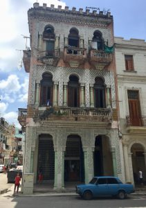 Three-story building in Cuba